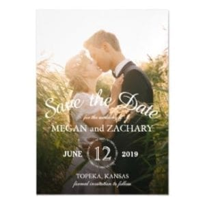 vertical wedding save the date magnet card with photo