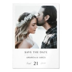 simple modern save the date magnet with photo