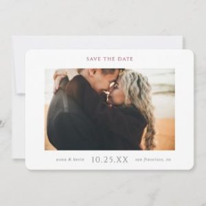 Simple Modern save the date template with photo.
